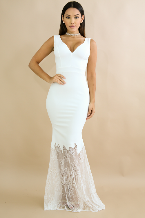 Mermaid Lace Maxi Dress