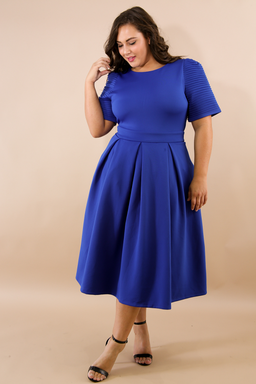 French Pleat Flare Dress