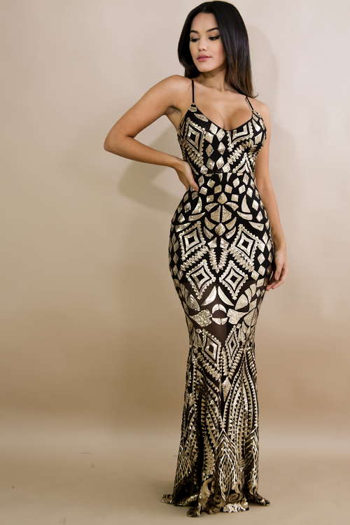 Dazzling Mermaid Sequin Dress