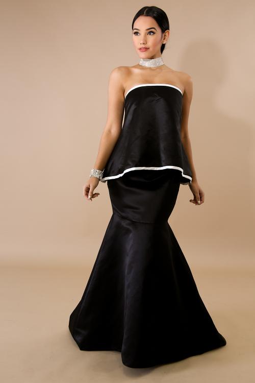 Cruella Sculpture Maxi Dress
