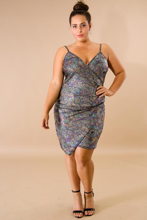 Gleam Scrunched Body-Con Dress