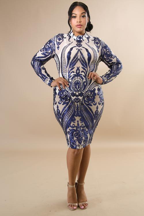 Darling Sequin Body-Con Dress