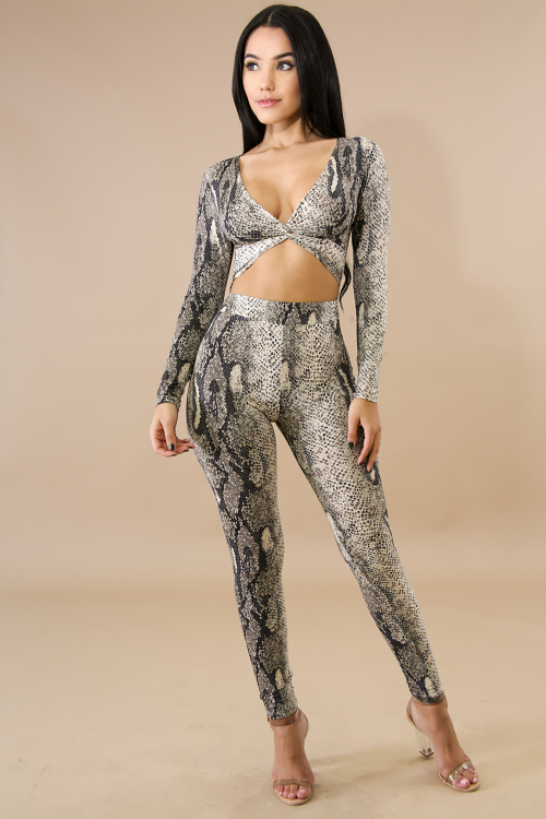 Reptile Twist Jumpsuit