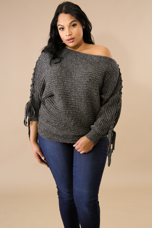Braided Knit Sweater Top