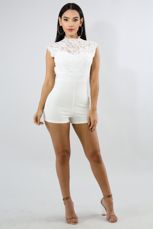 Dolly Lace Romper