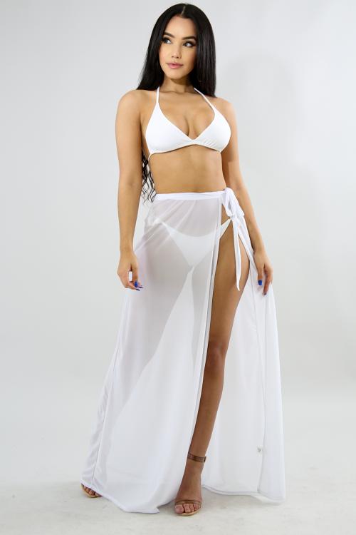 Sheer Cover Up Maxi Skirt