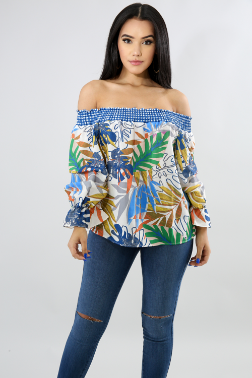 Floral Accordion Blouse