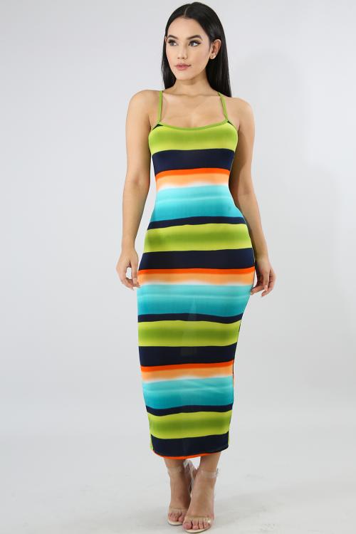 Color Smudge Spring Dress