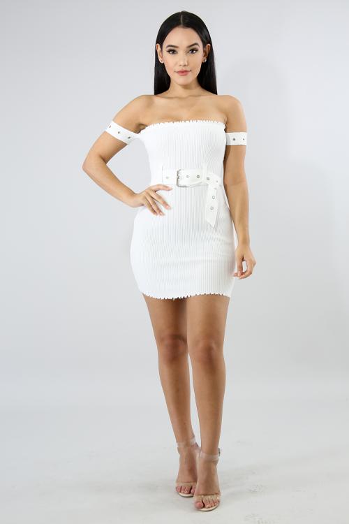 Raw Cut Body-Con Dress