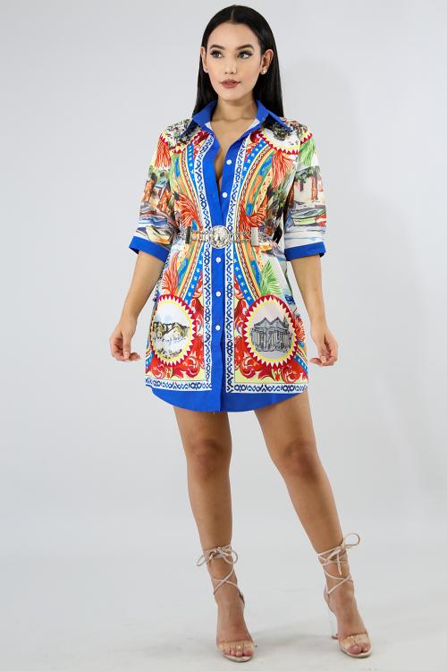 Rivers Button Dress