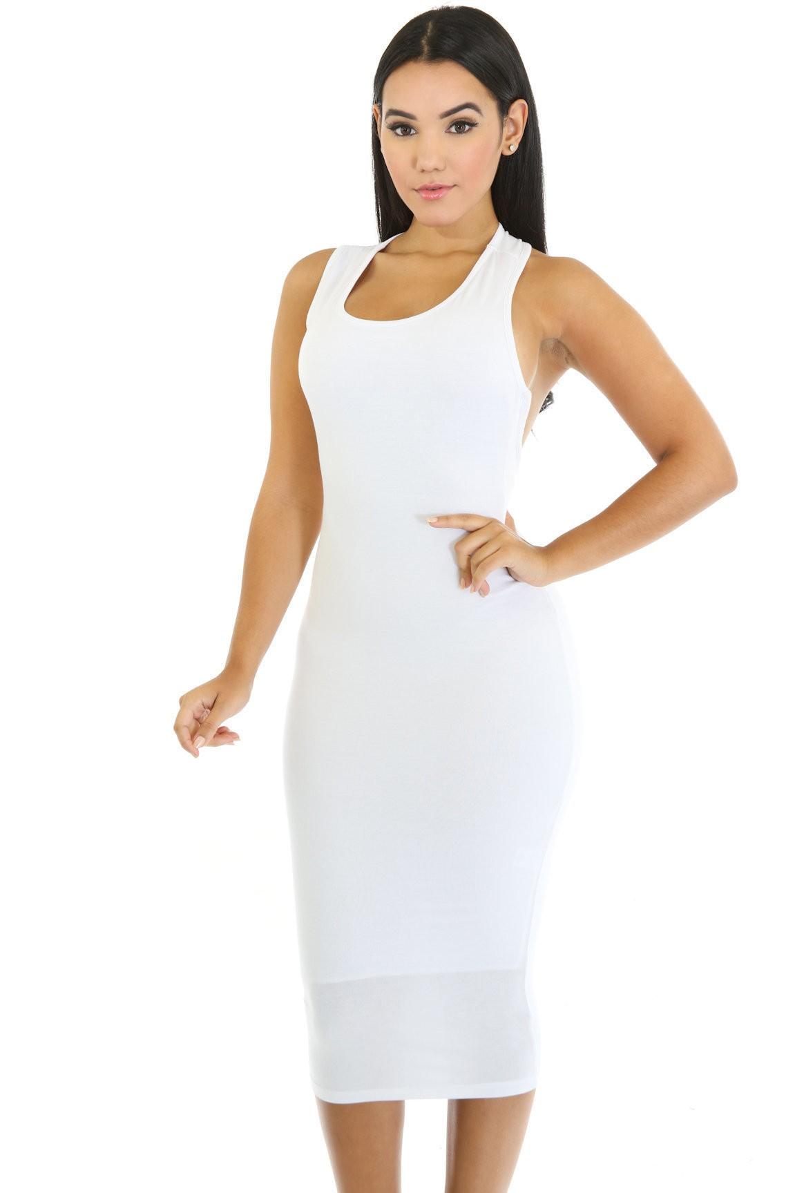 Side Scoop Dress