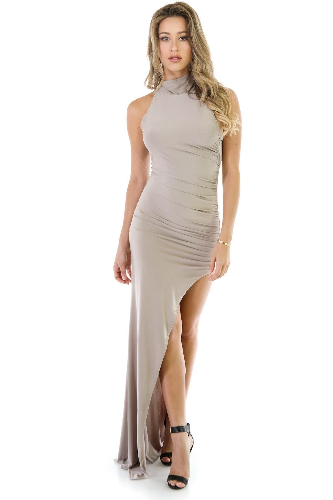 Define Curves Ruched Maxi Dress