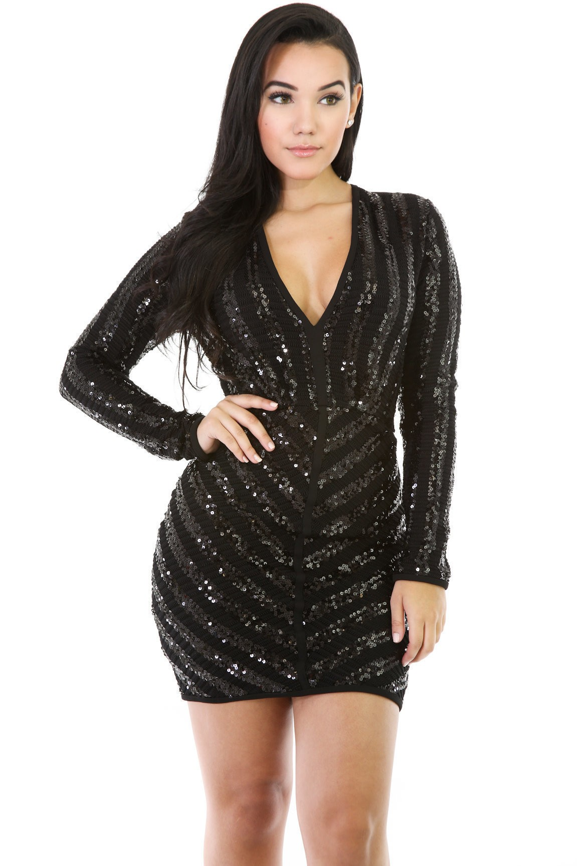 f194d5f3e8e Sequin Back Dress