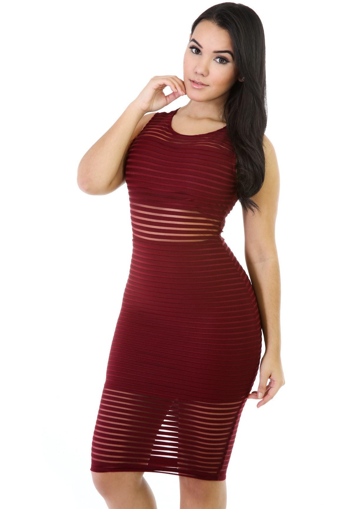 Mesh Test Midi Dress