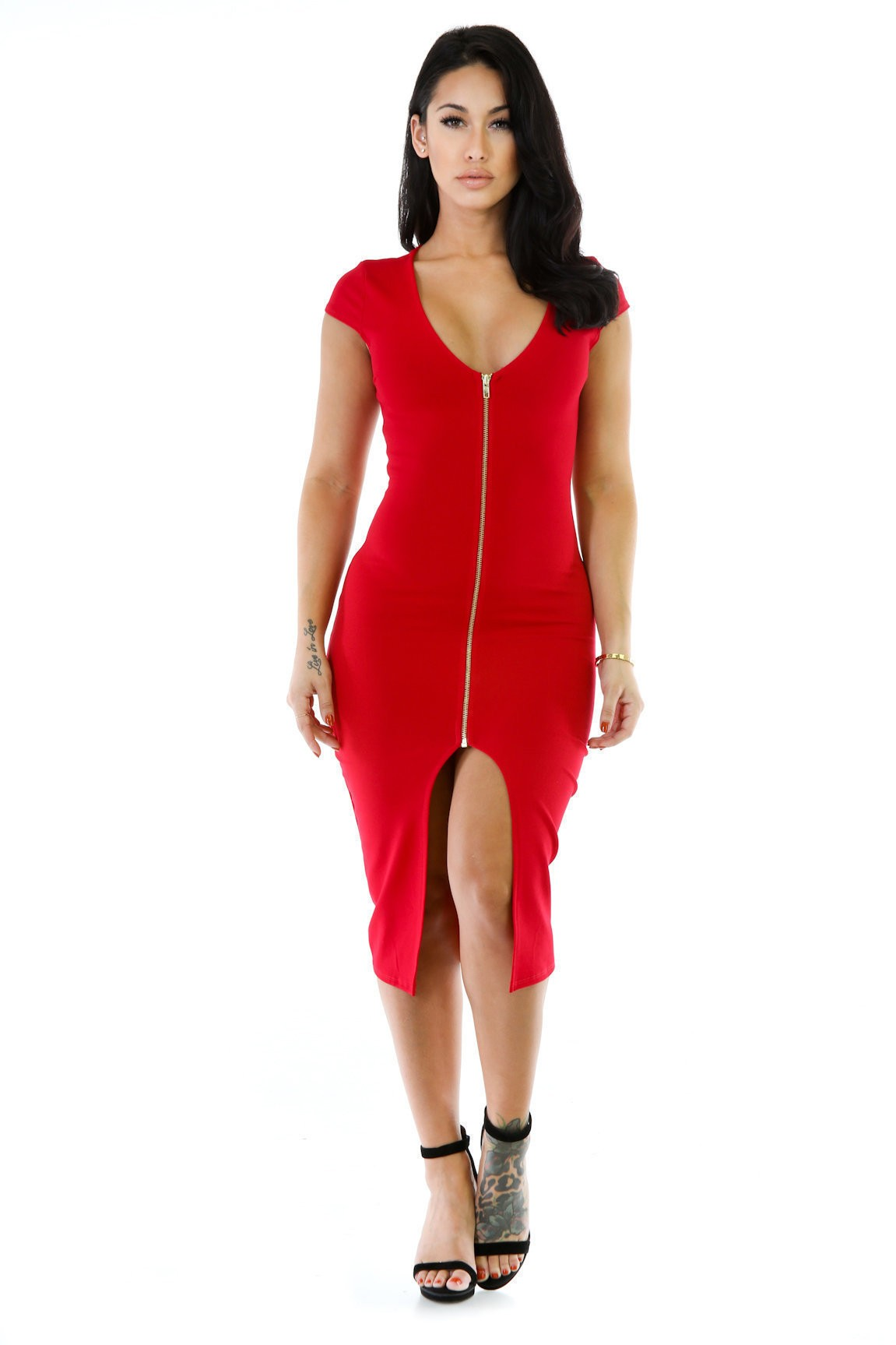 Zip Pose Dress