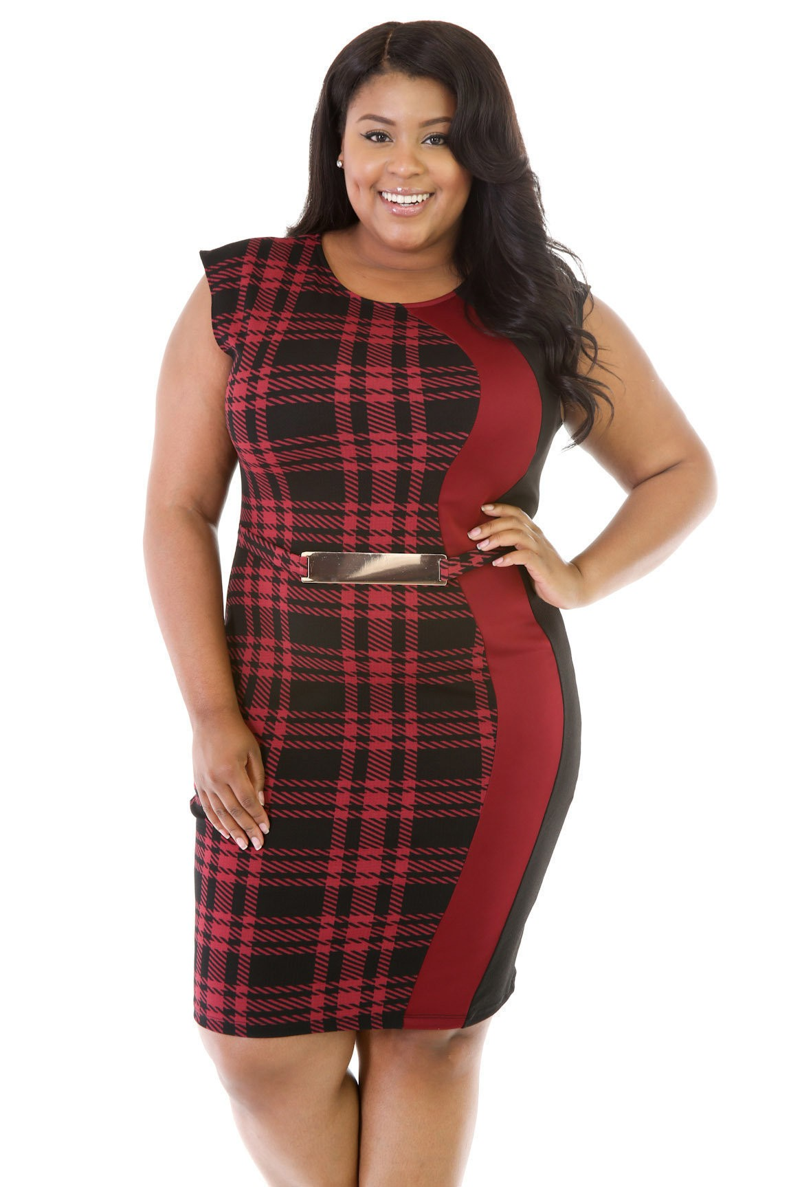 Plaid Design Dress