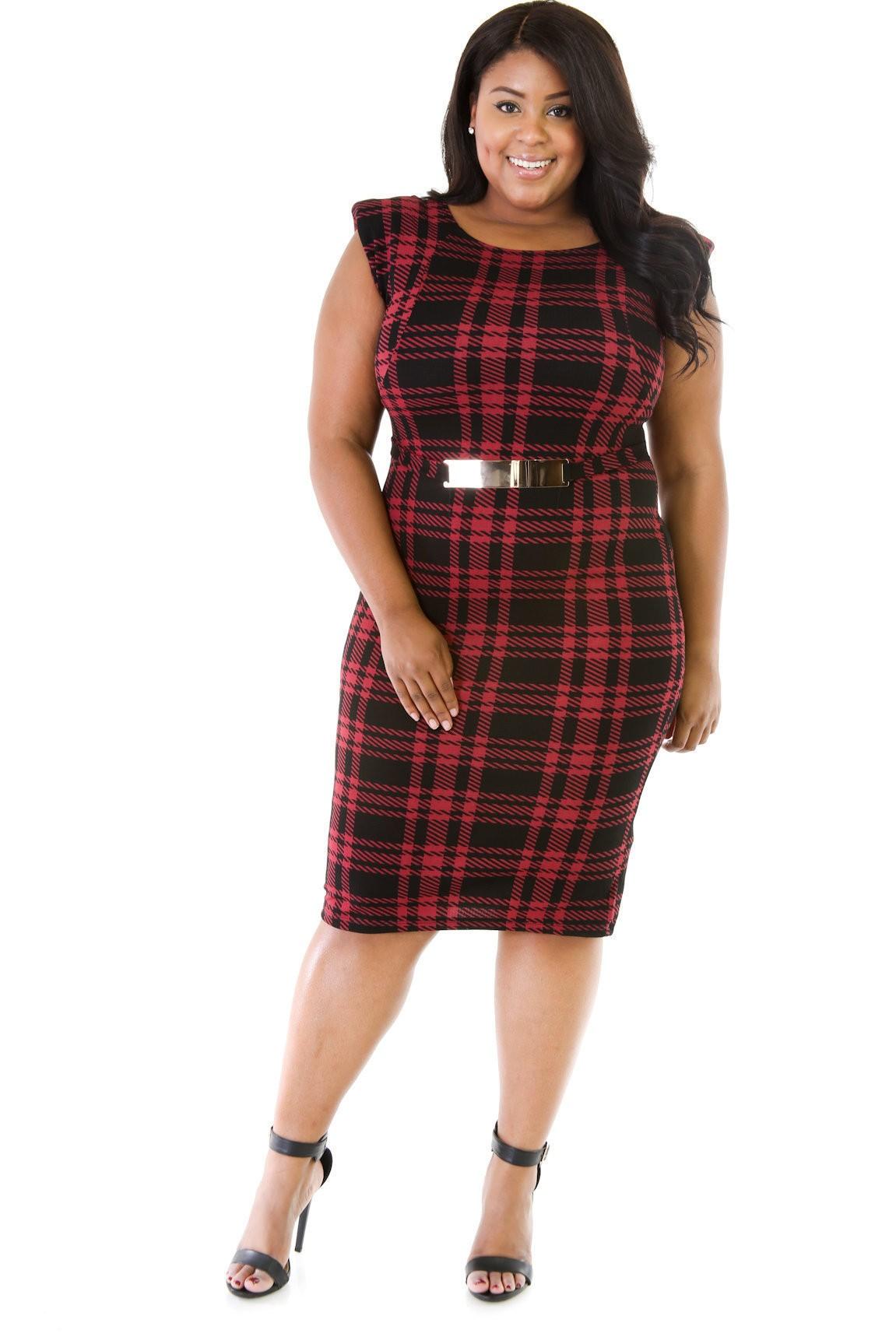 Plaid Design Dress II