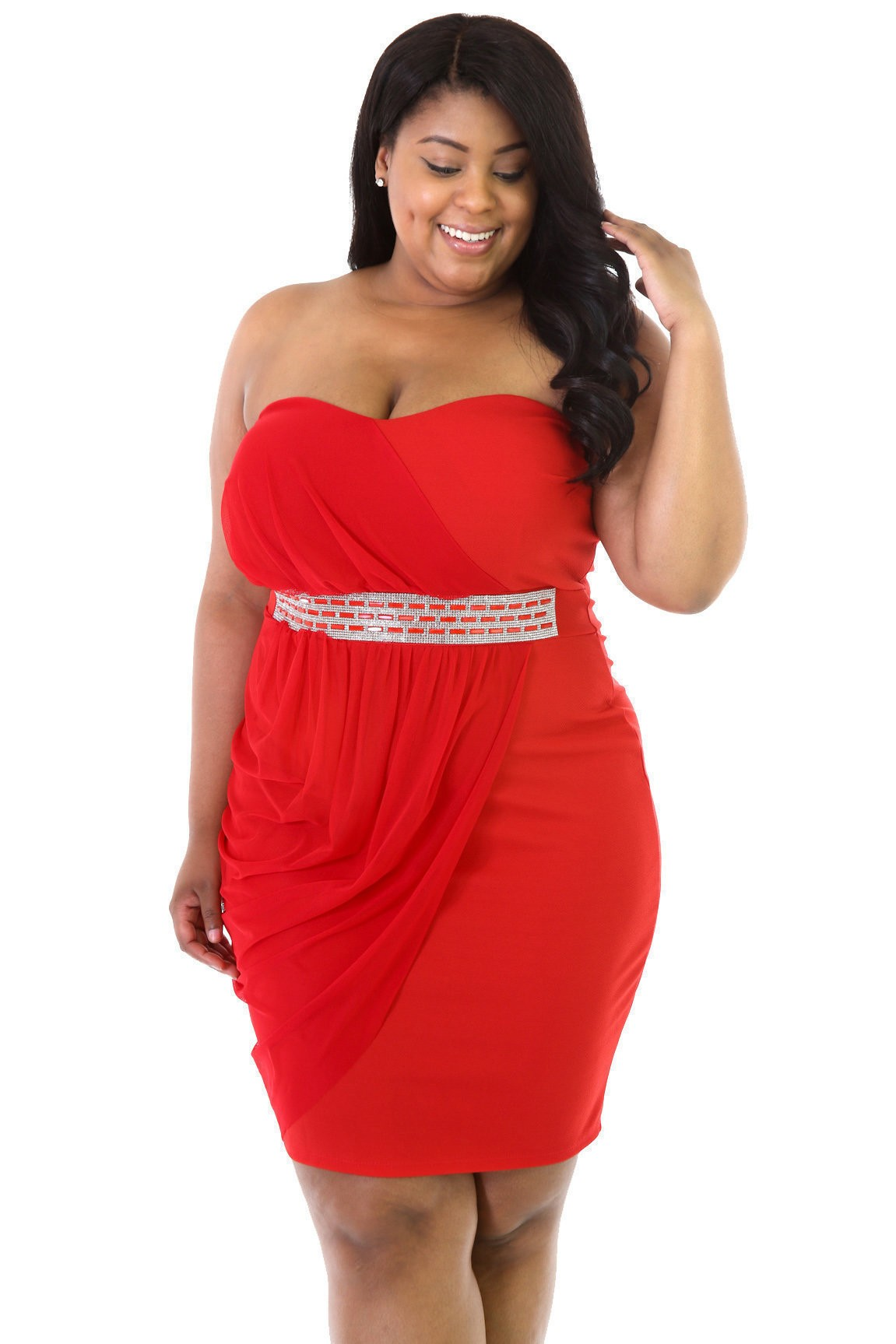 Lady In Red Plus Dress