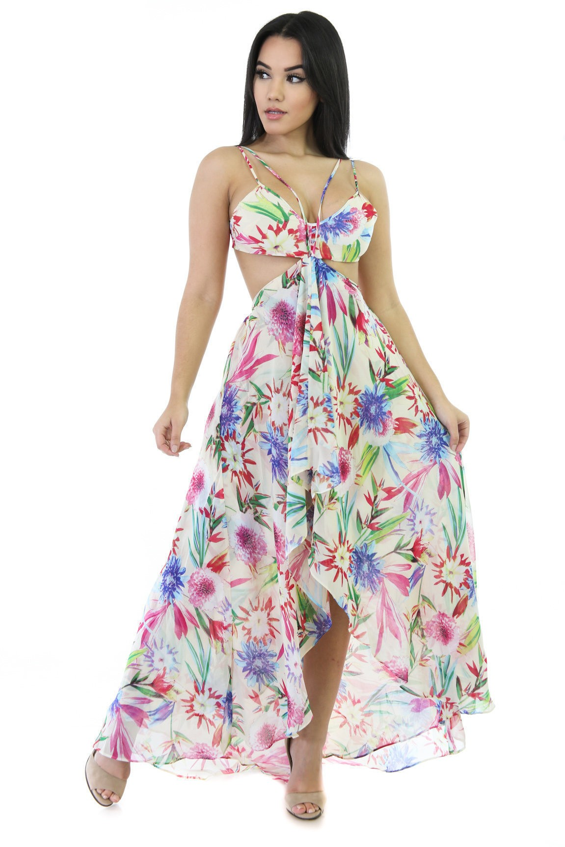 Floral Print Max Dress