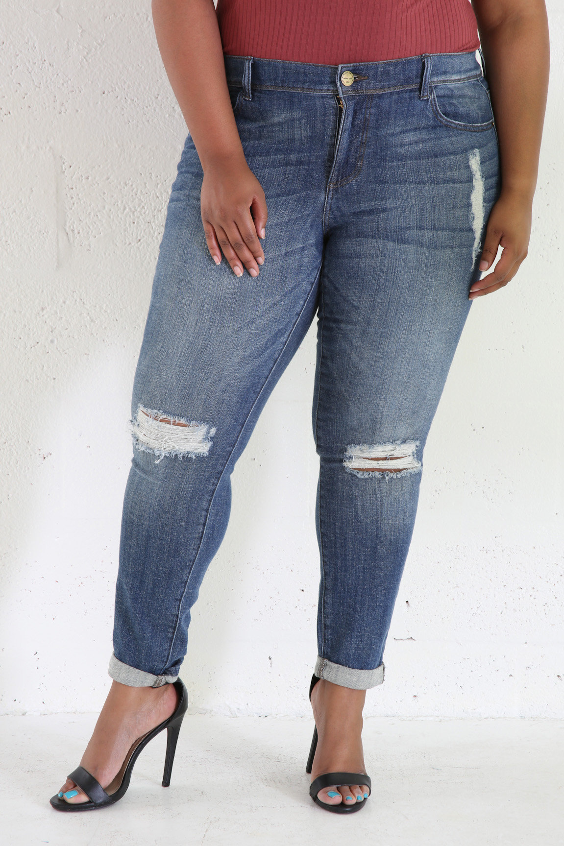 Distress Hole All Purpose Jeans
