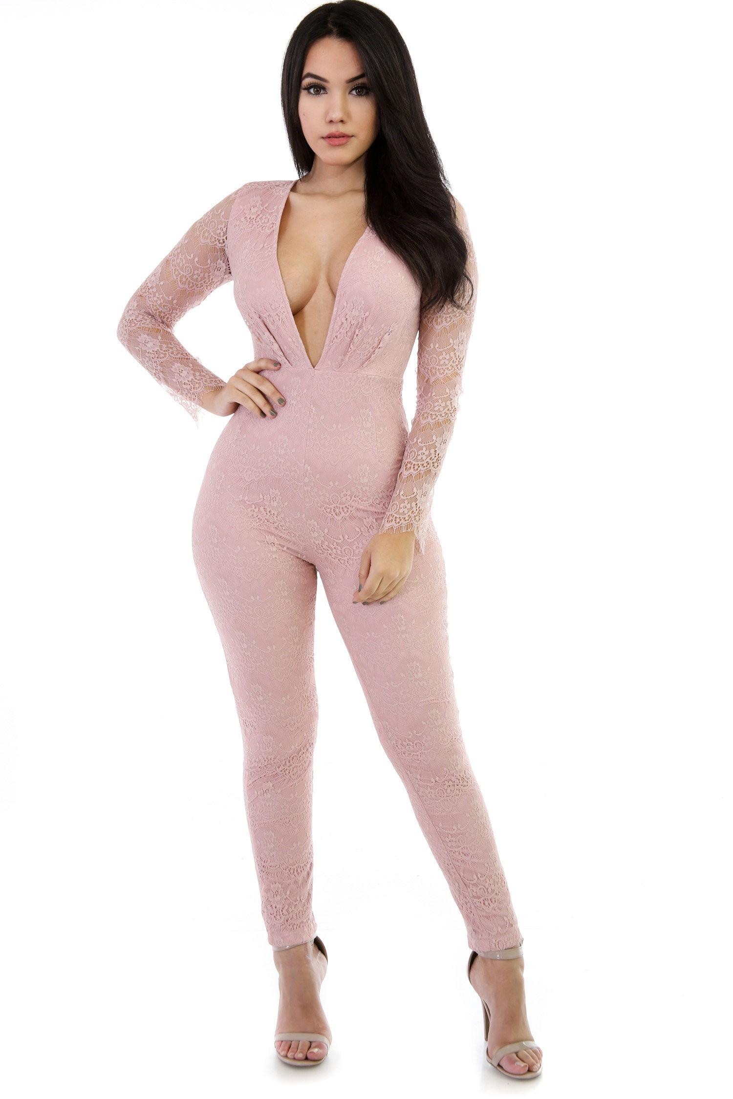 V-Girl Knitt Jumpsuit