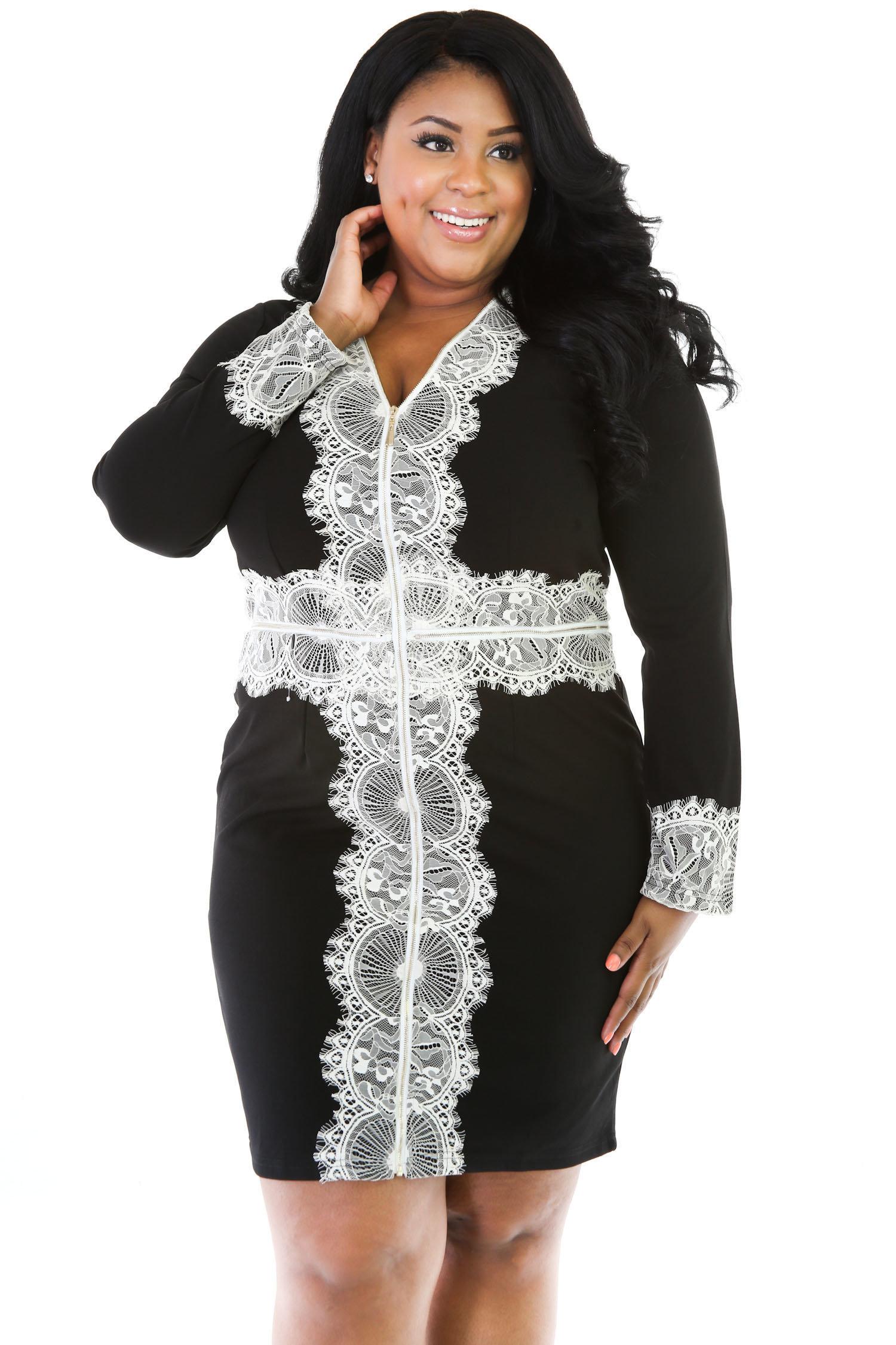 Zipper Detail Dress