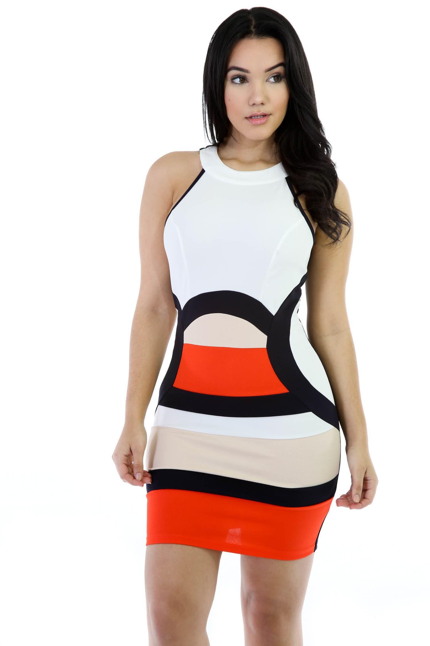 Multi Color Girl Mini Dress