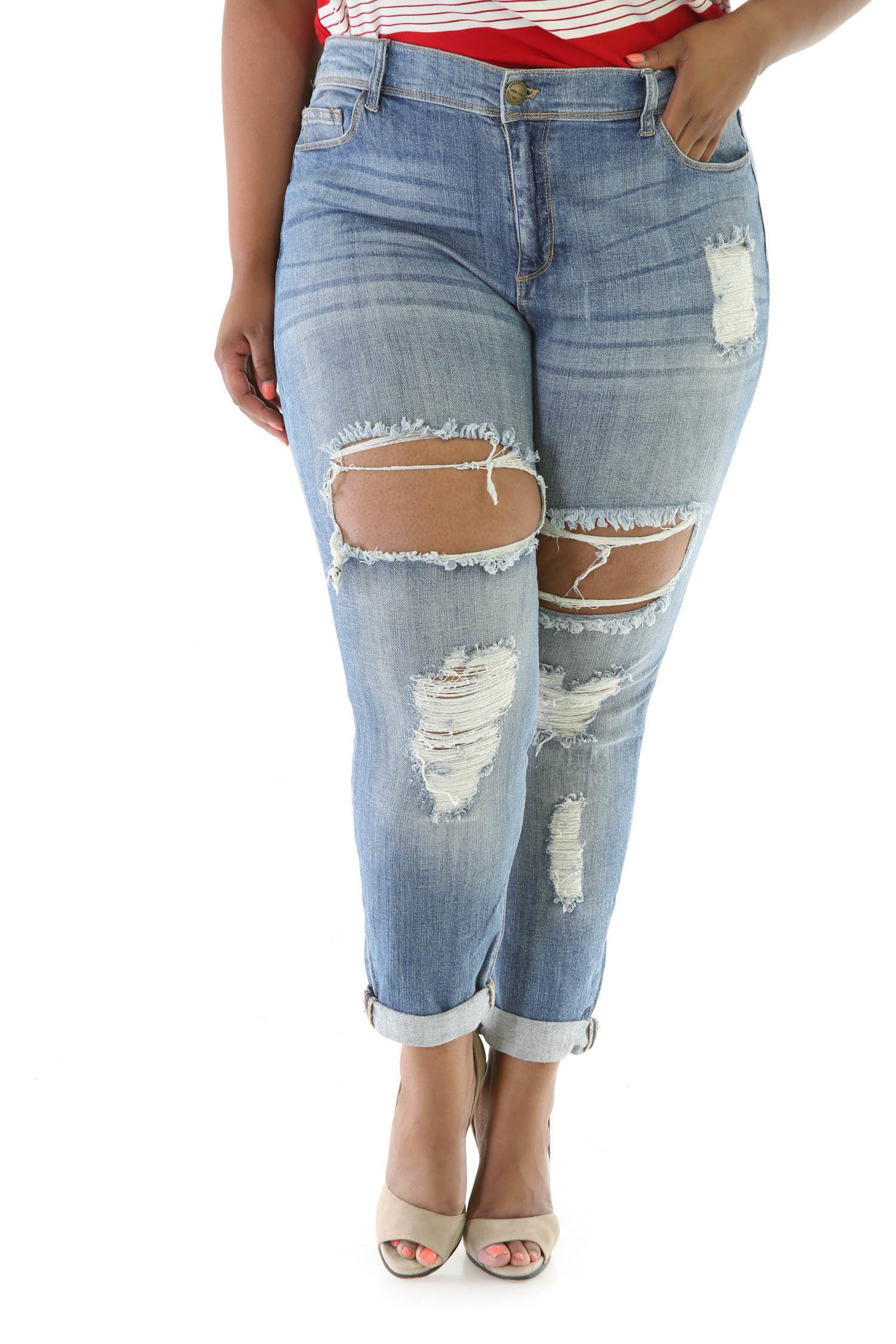 Distress Hole Jeans