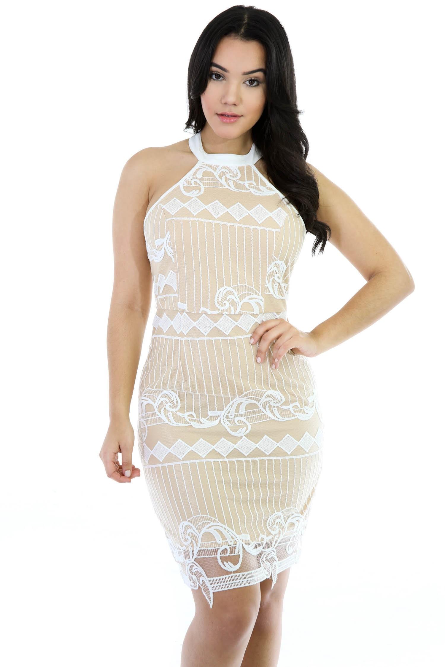 Wavy Knitting Sleeveless Dress
