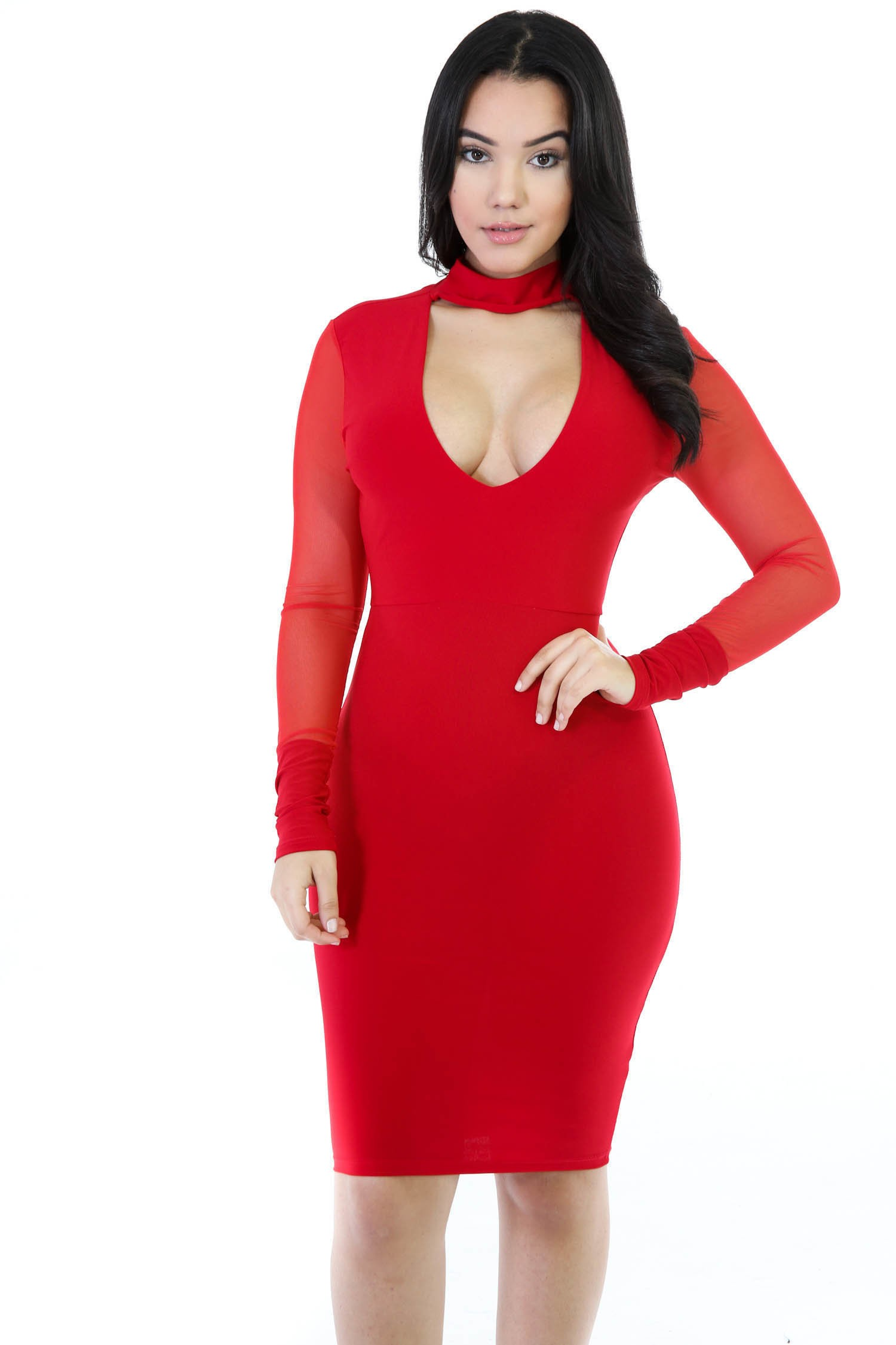 Seduction Stretchy Bodycon Midi Dress