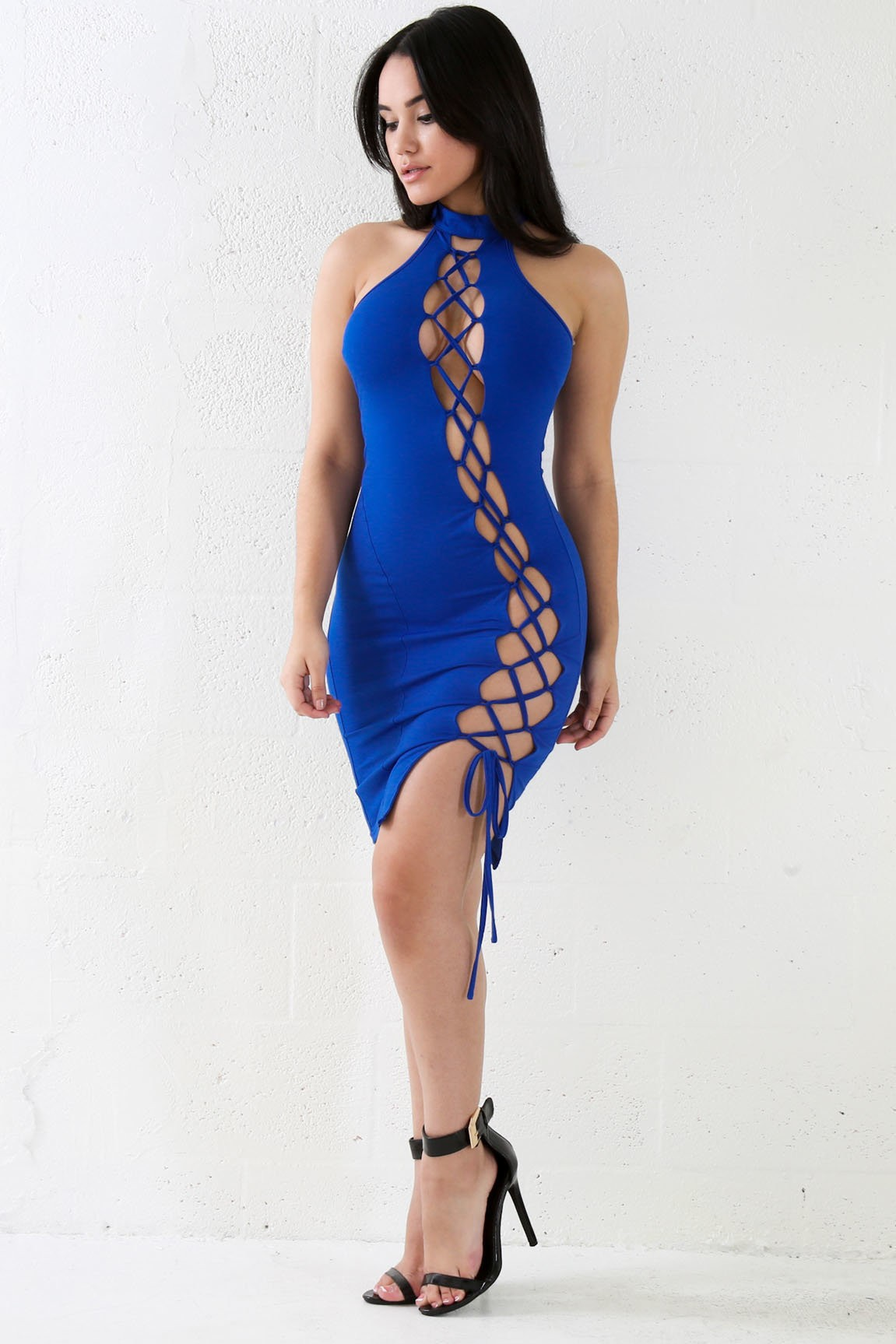Expossed Lace Bodycon Dress