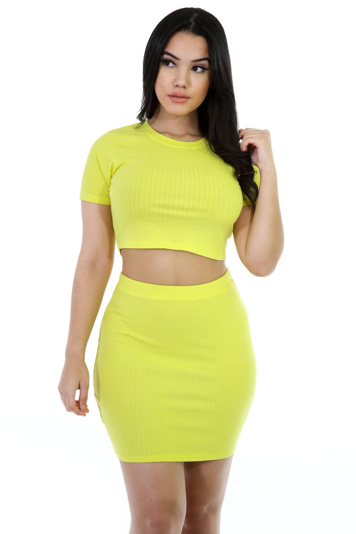 Lovely Stretchable Skirt Set