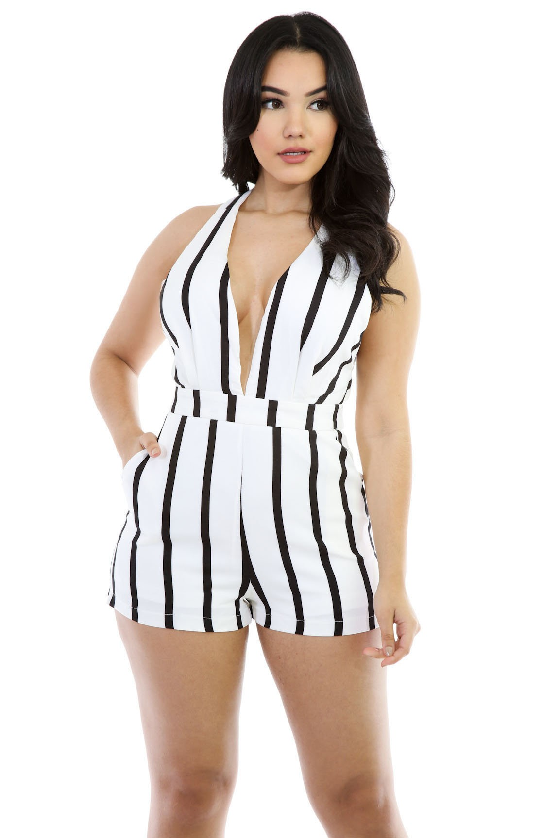Made with Love Stripped Romper
