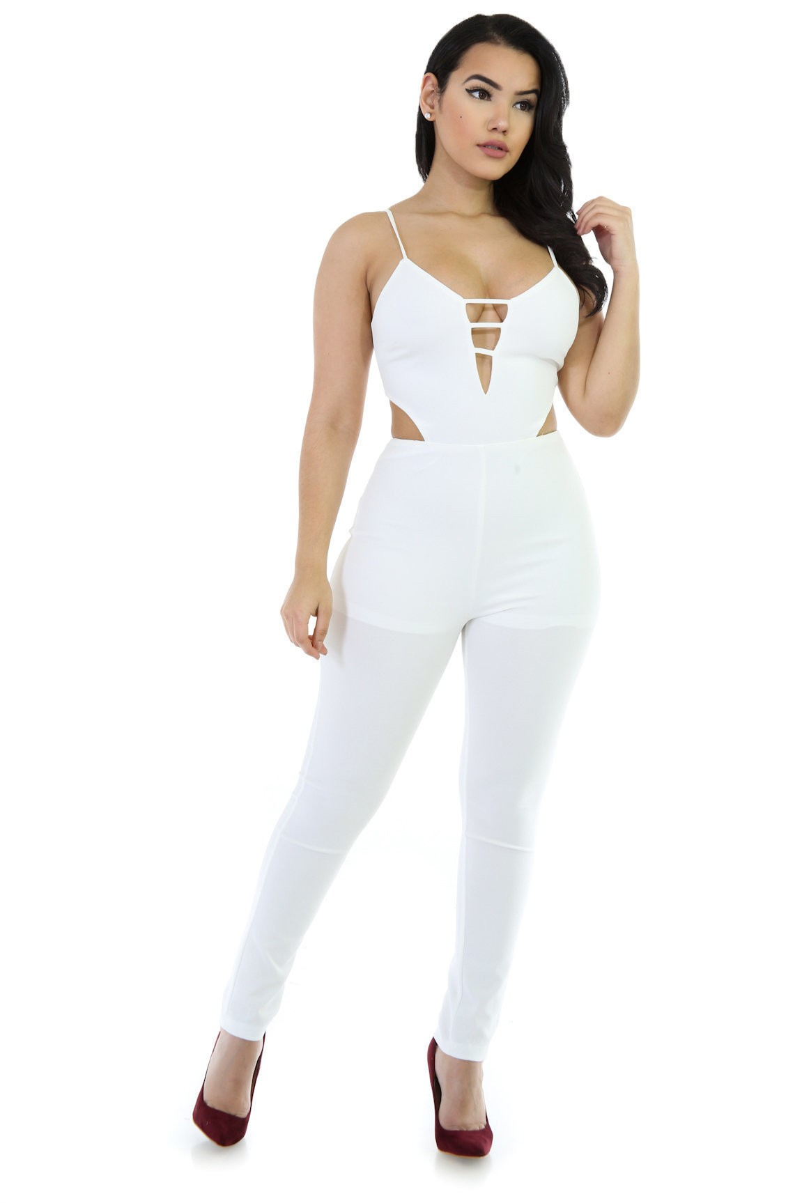 Stretchy Open Back Jumpsuit