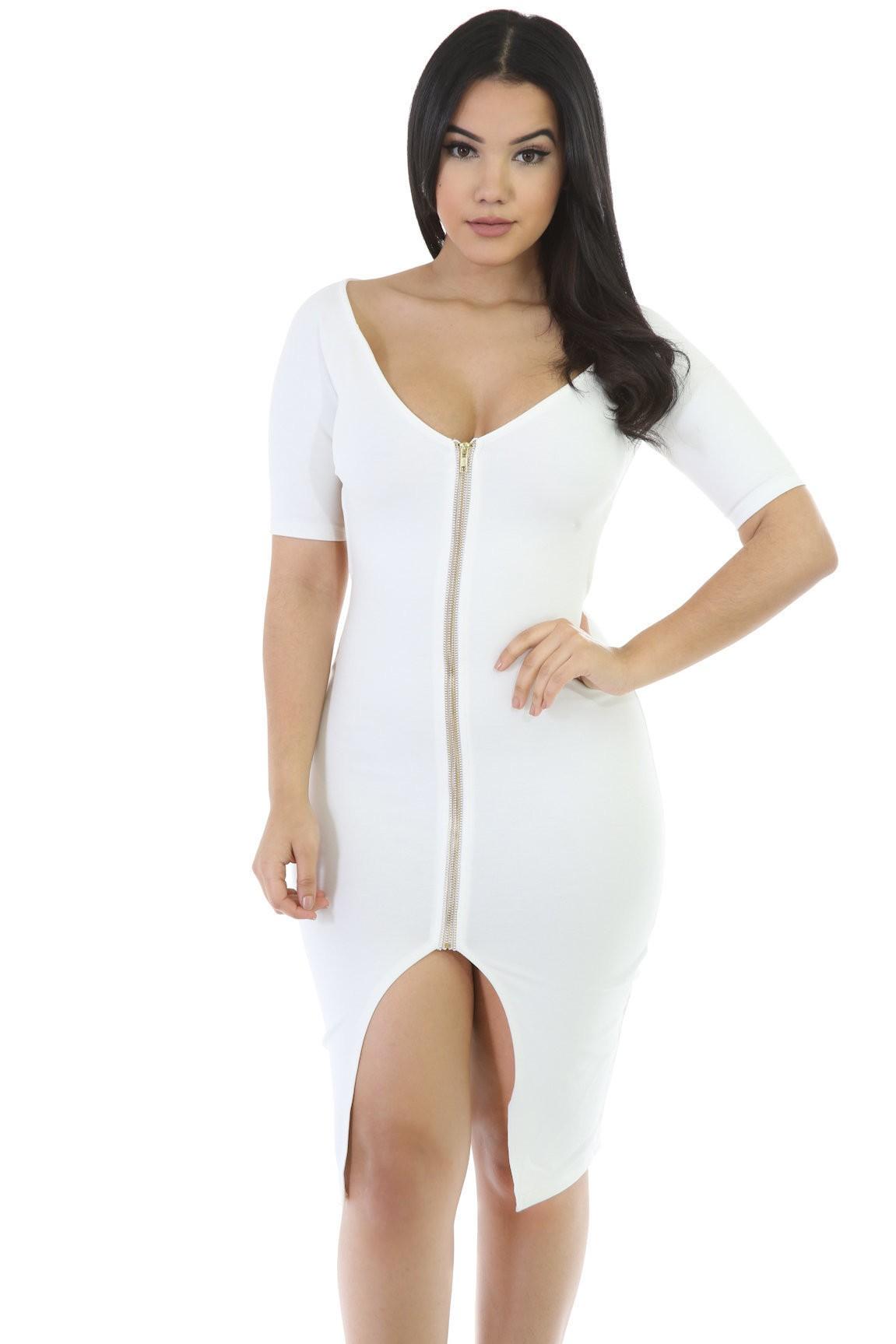 Lux Bodycon Diva Midi Dress