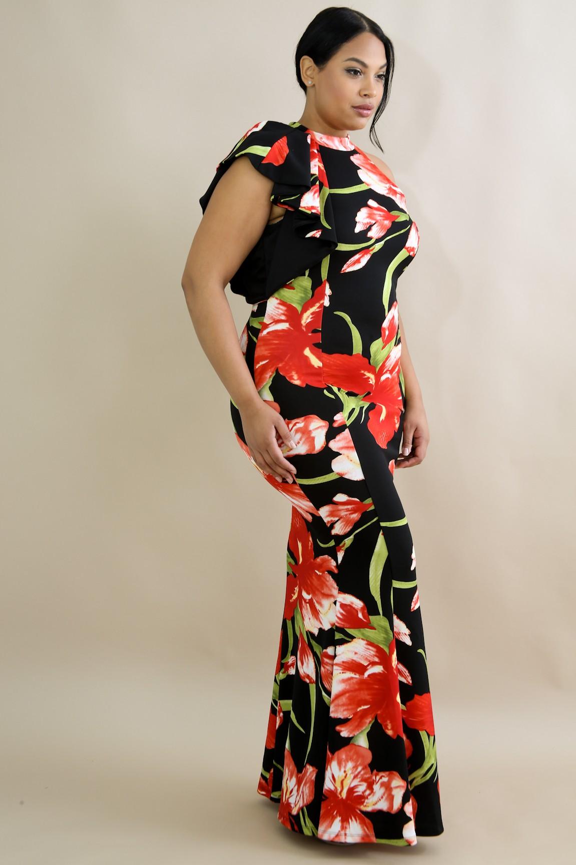 93673217585 Stunning Tulipan Floral Maxi Dress. SKU    GT1281P1