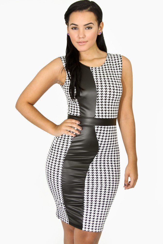Mademoiselle Faux Leather Dress
