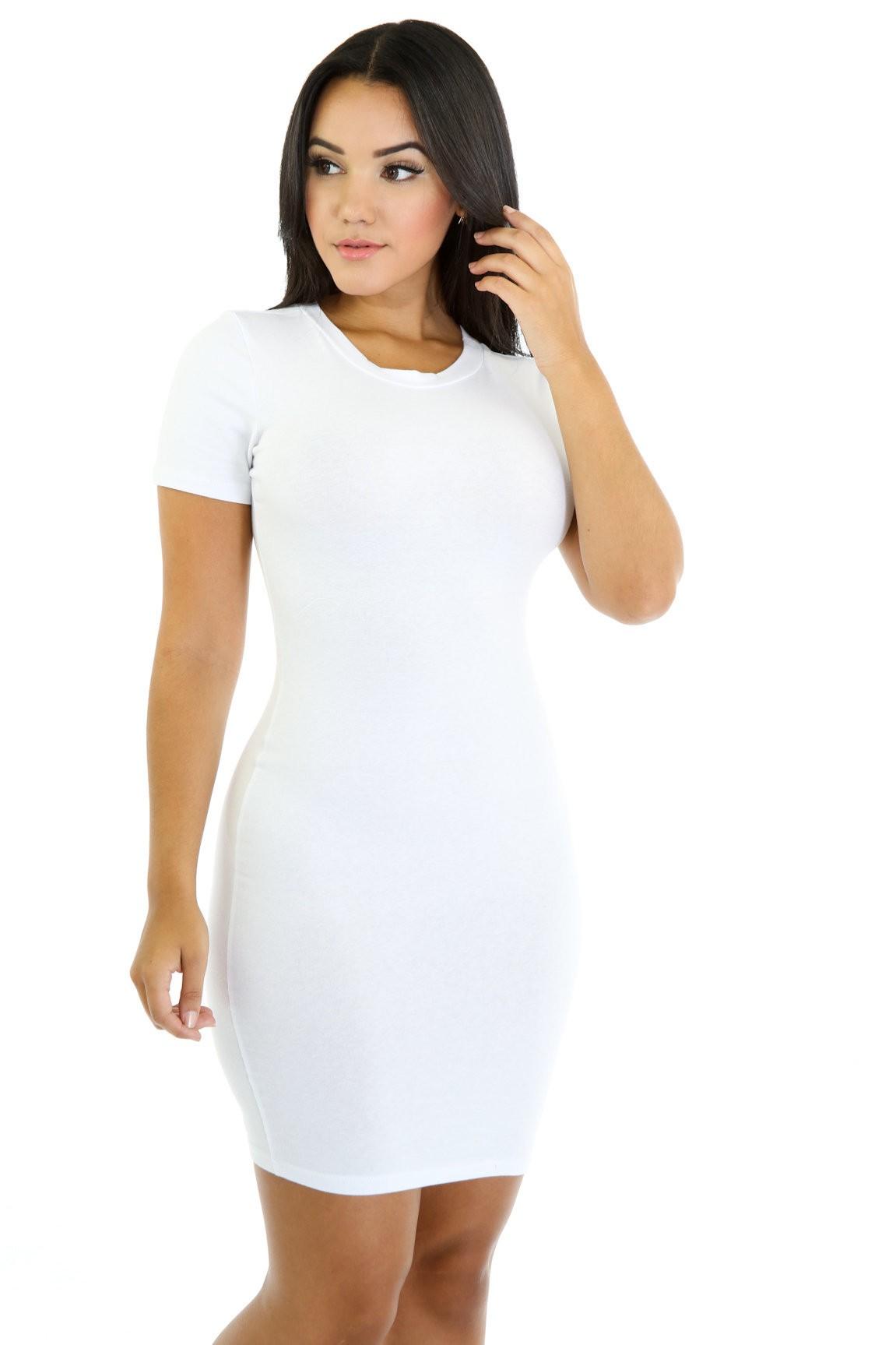 Basic Squared Open Back Dress