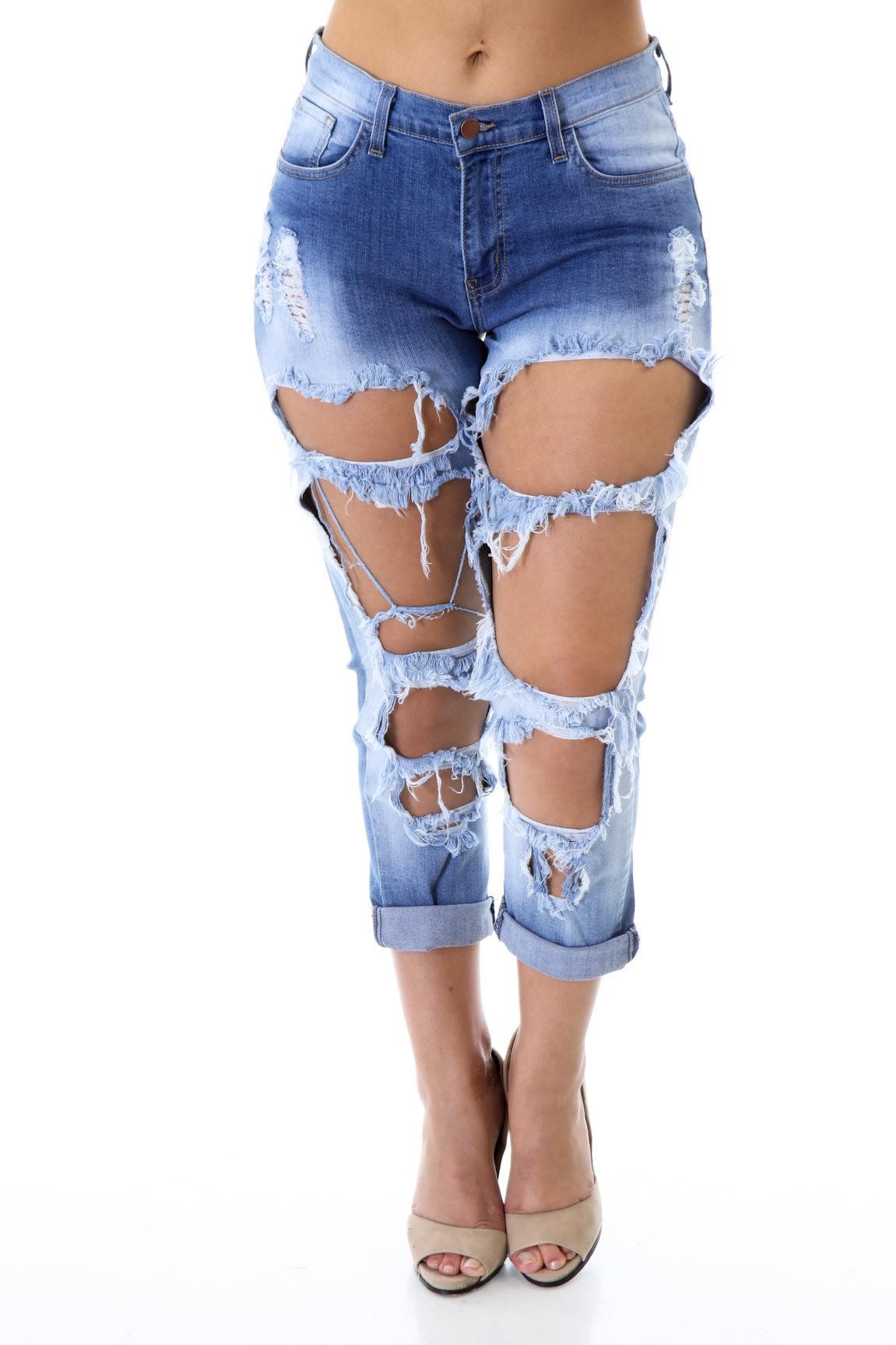 Hole Survival Denim Jeans