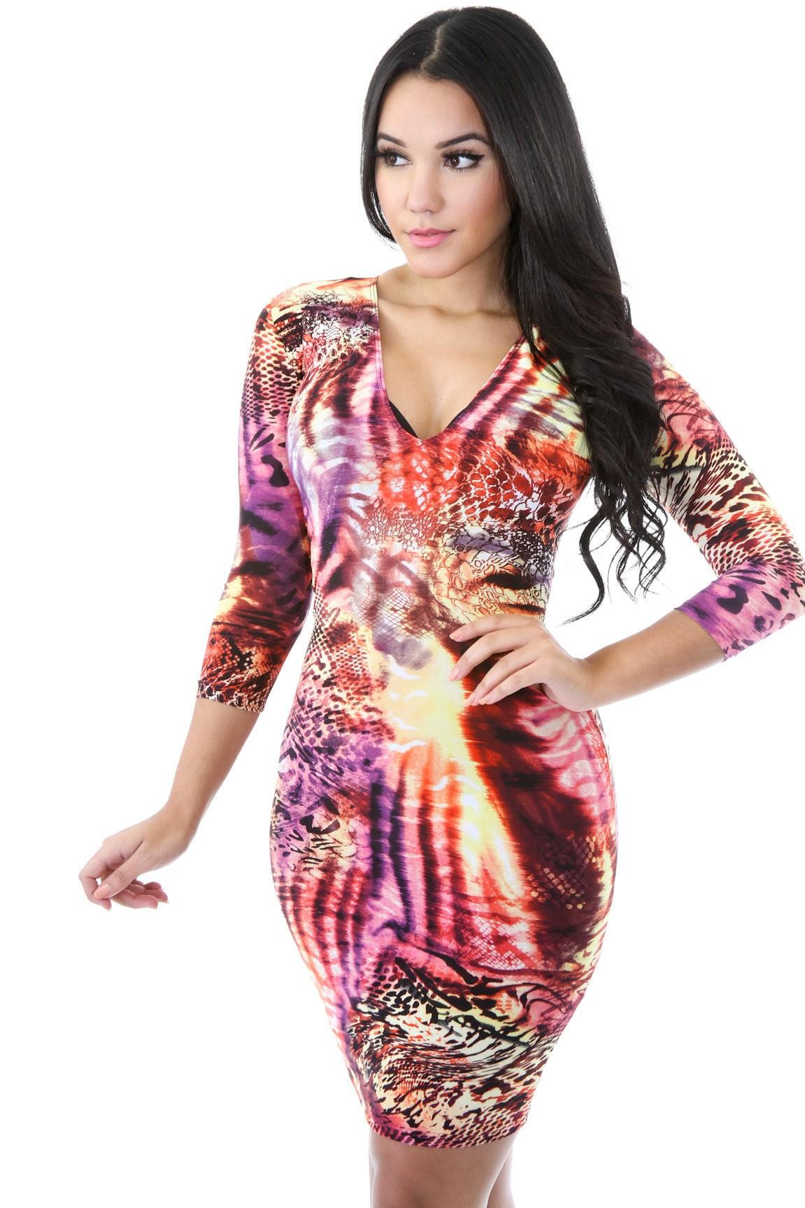 Fire Sunset Dress