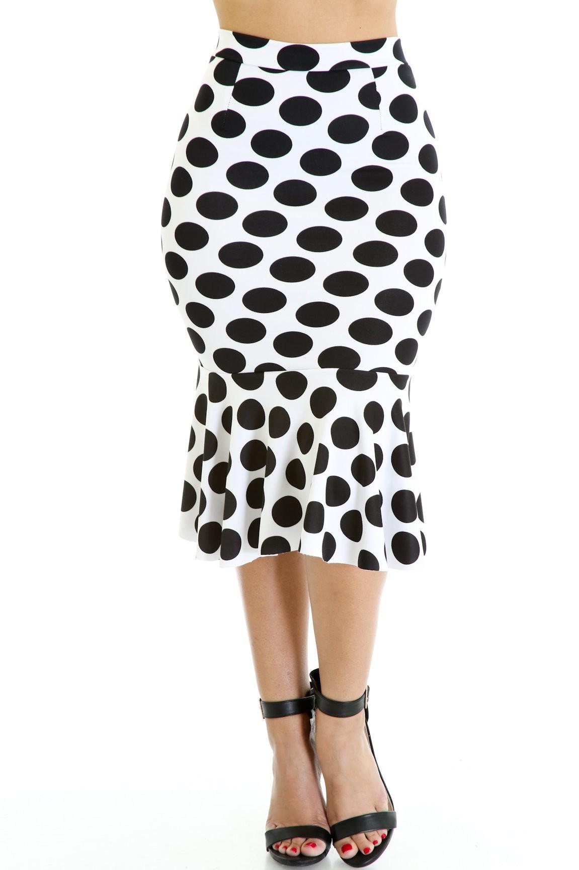 Poke a Dot Flare Trendy skirt