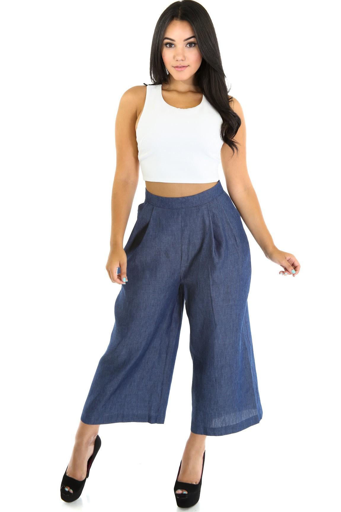 Wide Jenner Pants