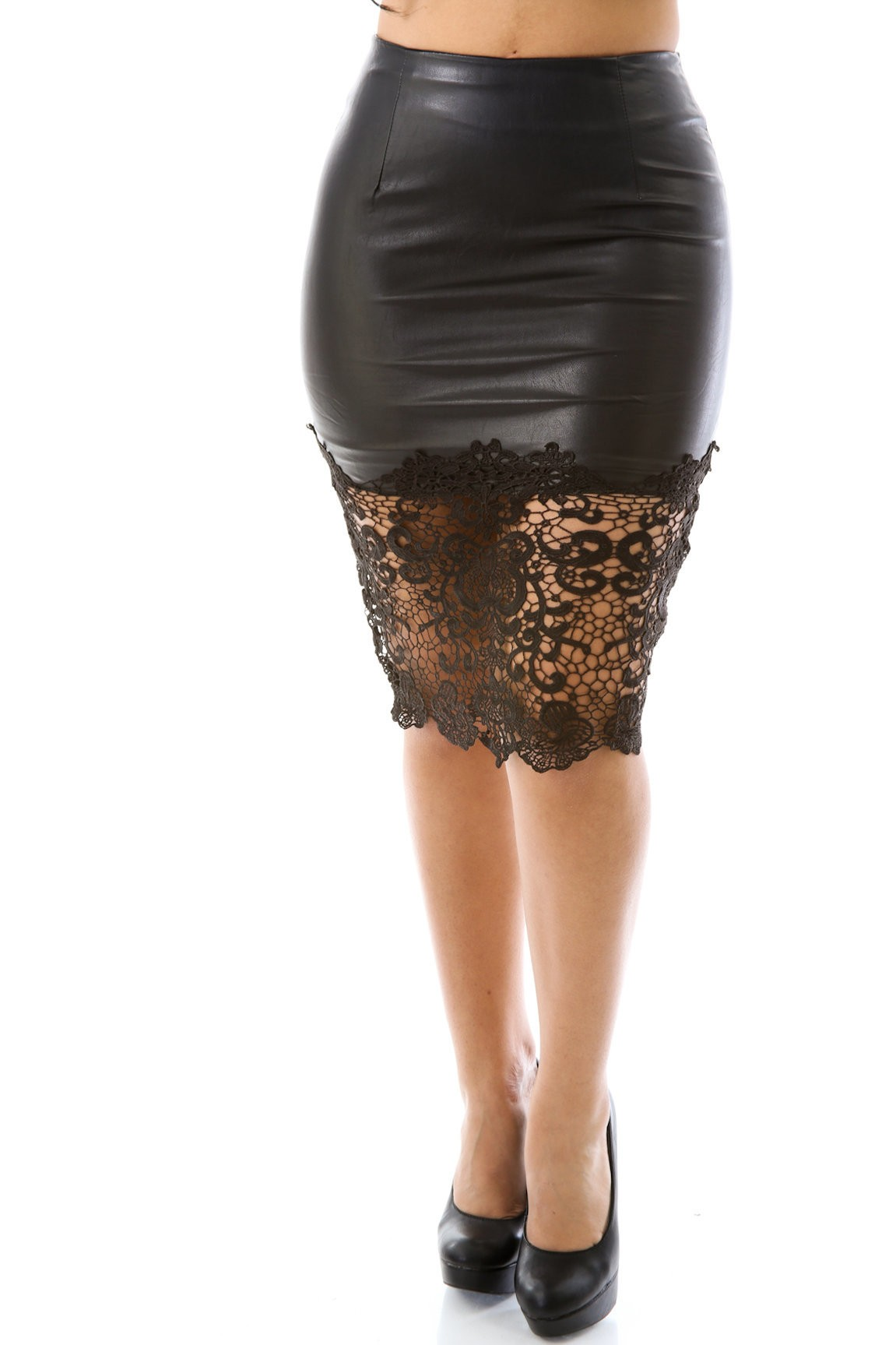 Sexy Leatherette Skirt