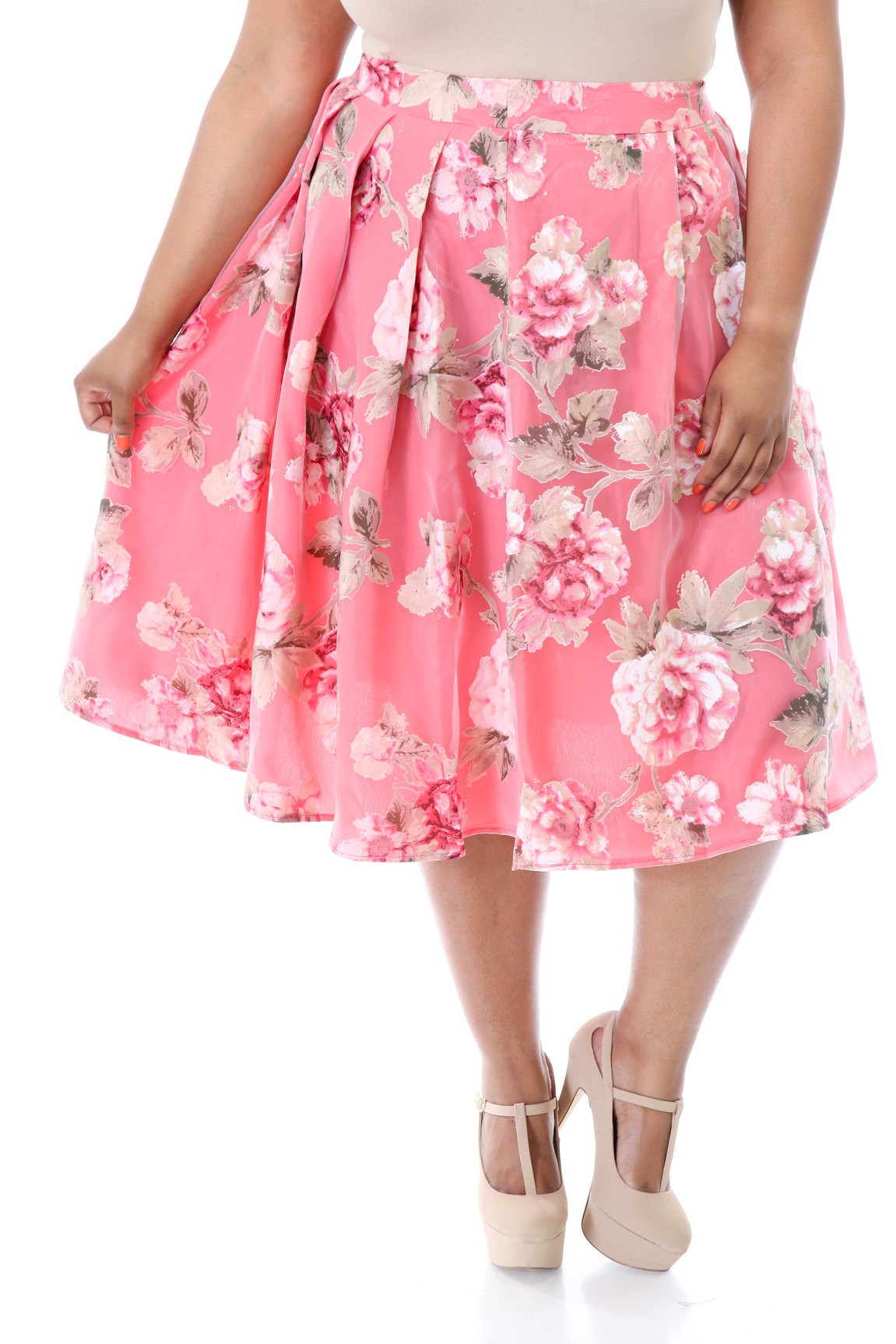 Flowers All Around Me Princess Skirt