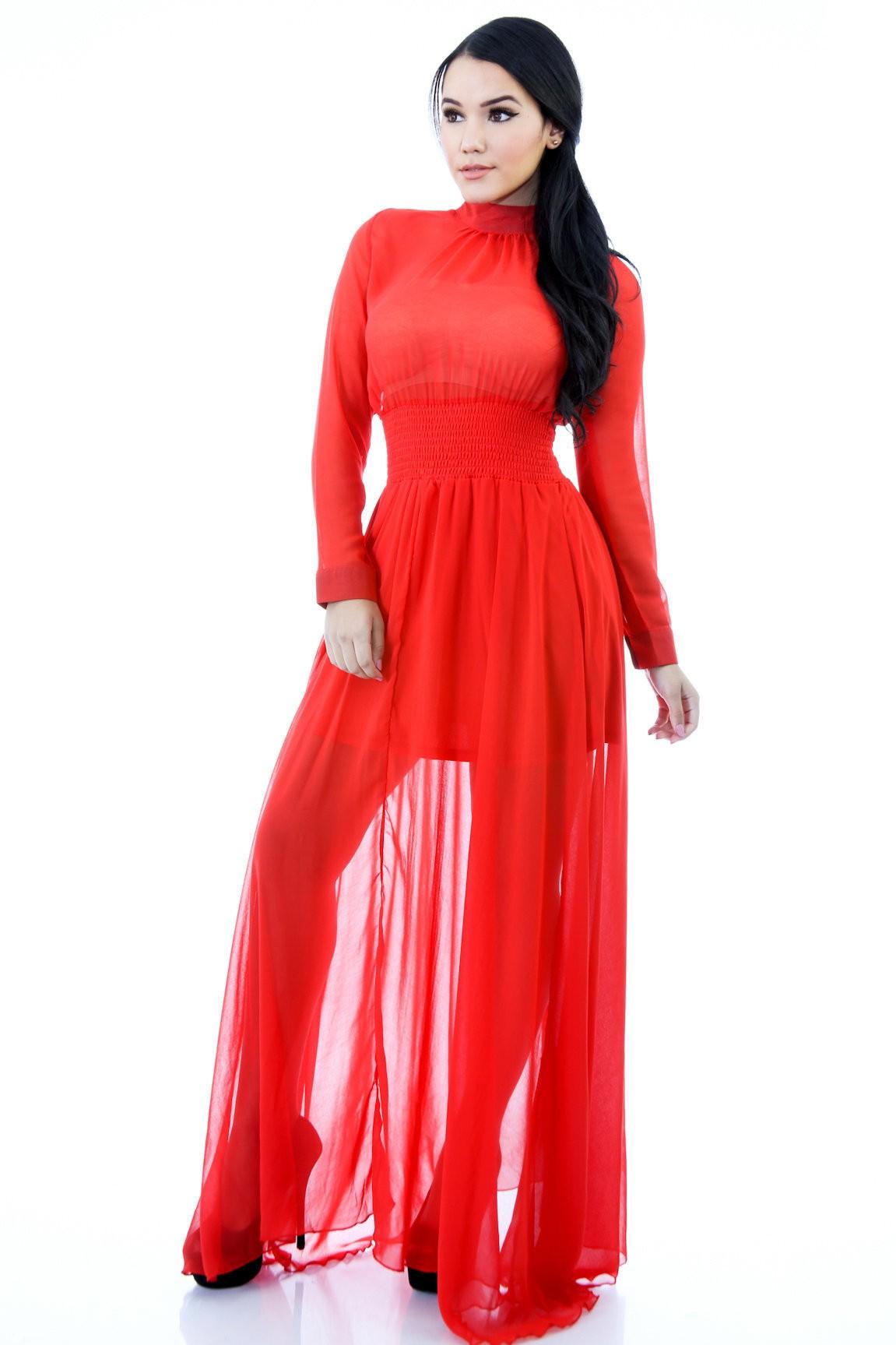 Active Chiffon Maxi Dress