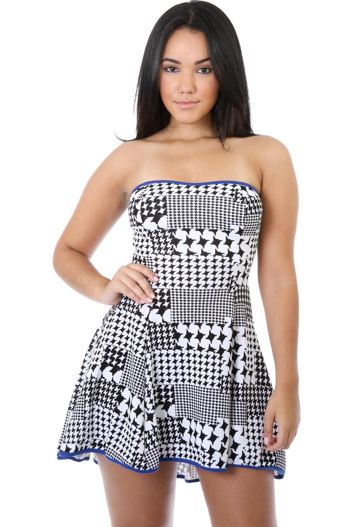 Uneven Strapless Dress