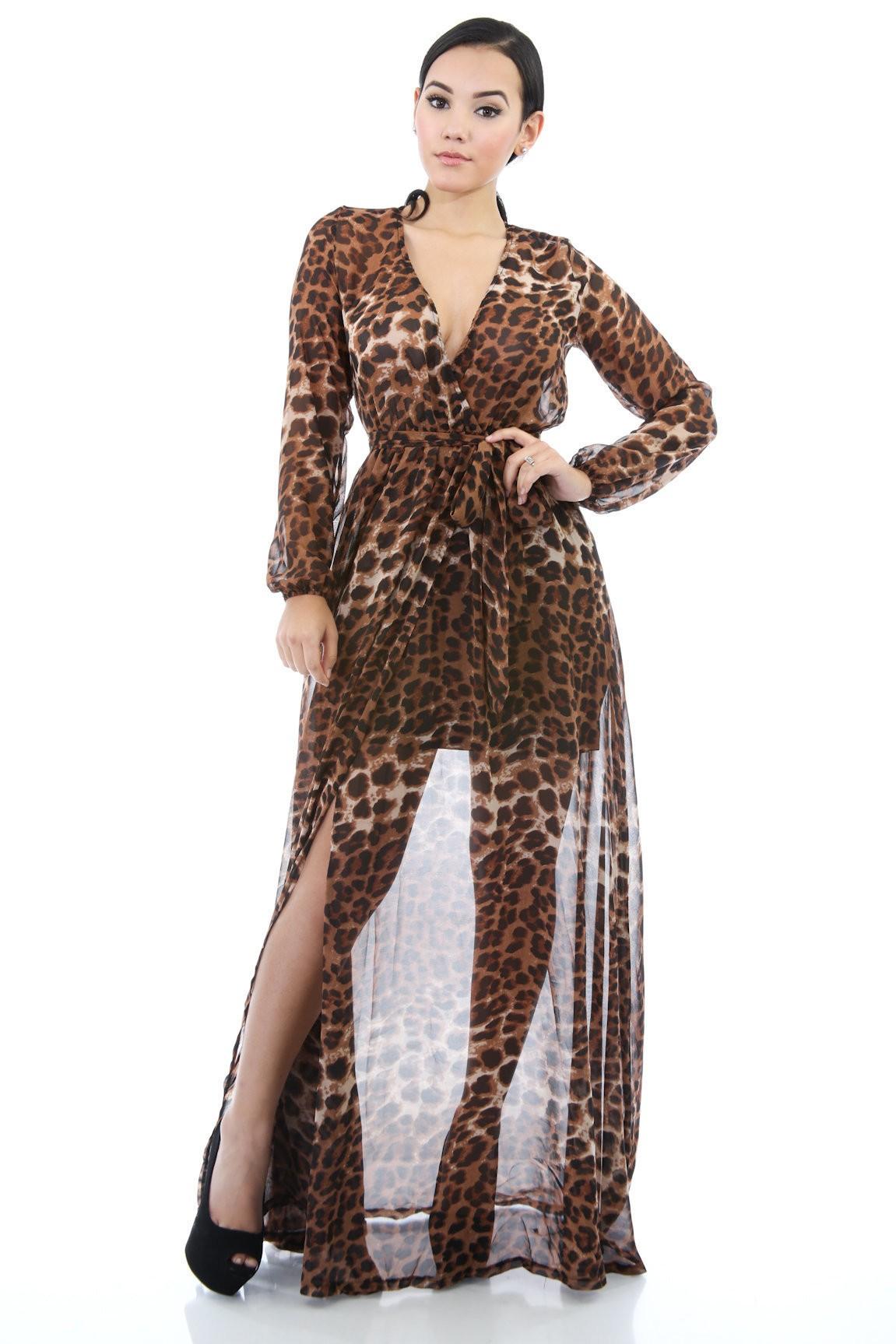 Leopard Beauty Maxi Dress