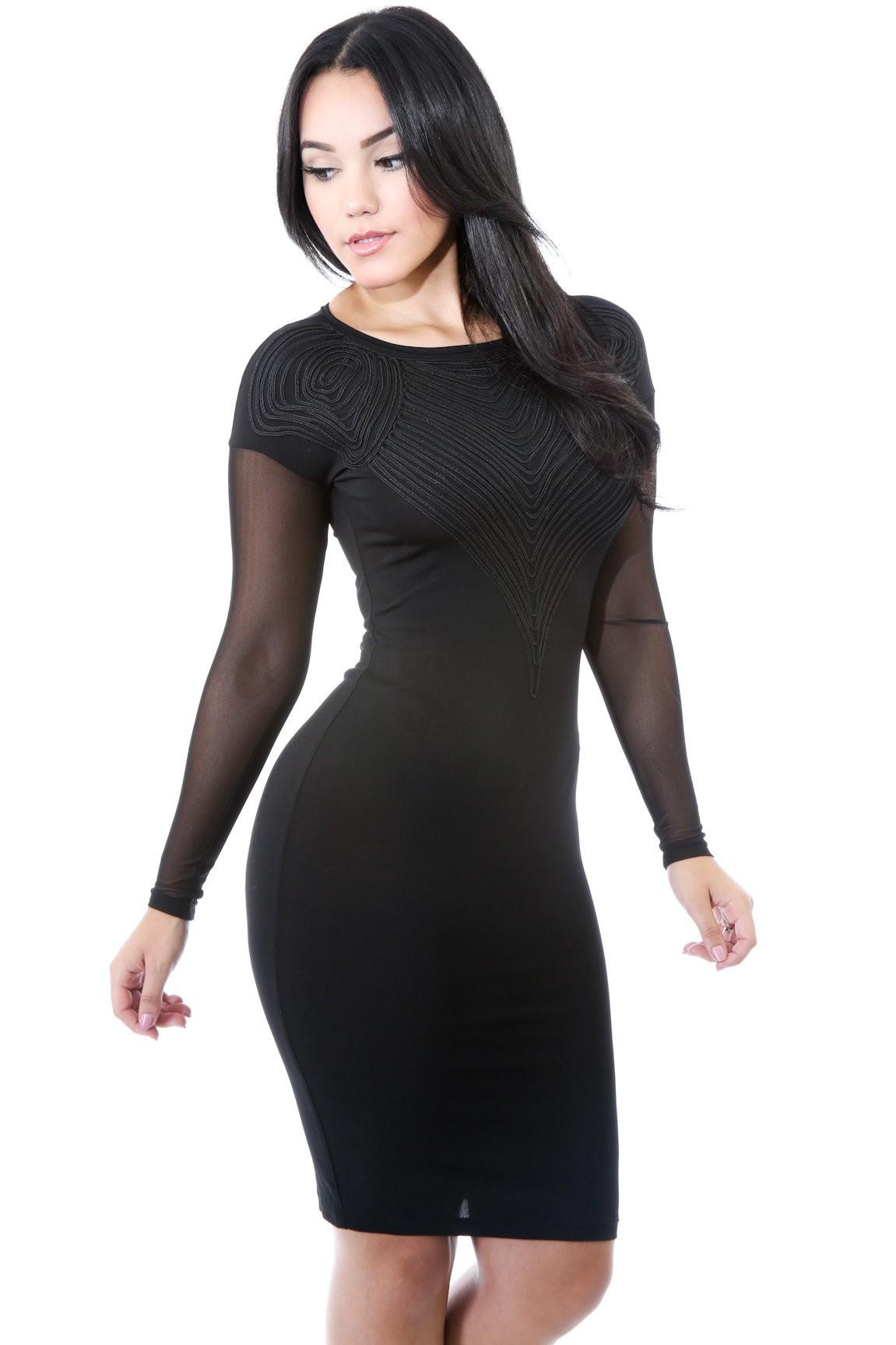 Mesh Embed Dress