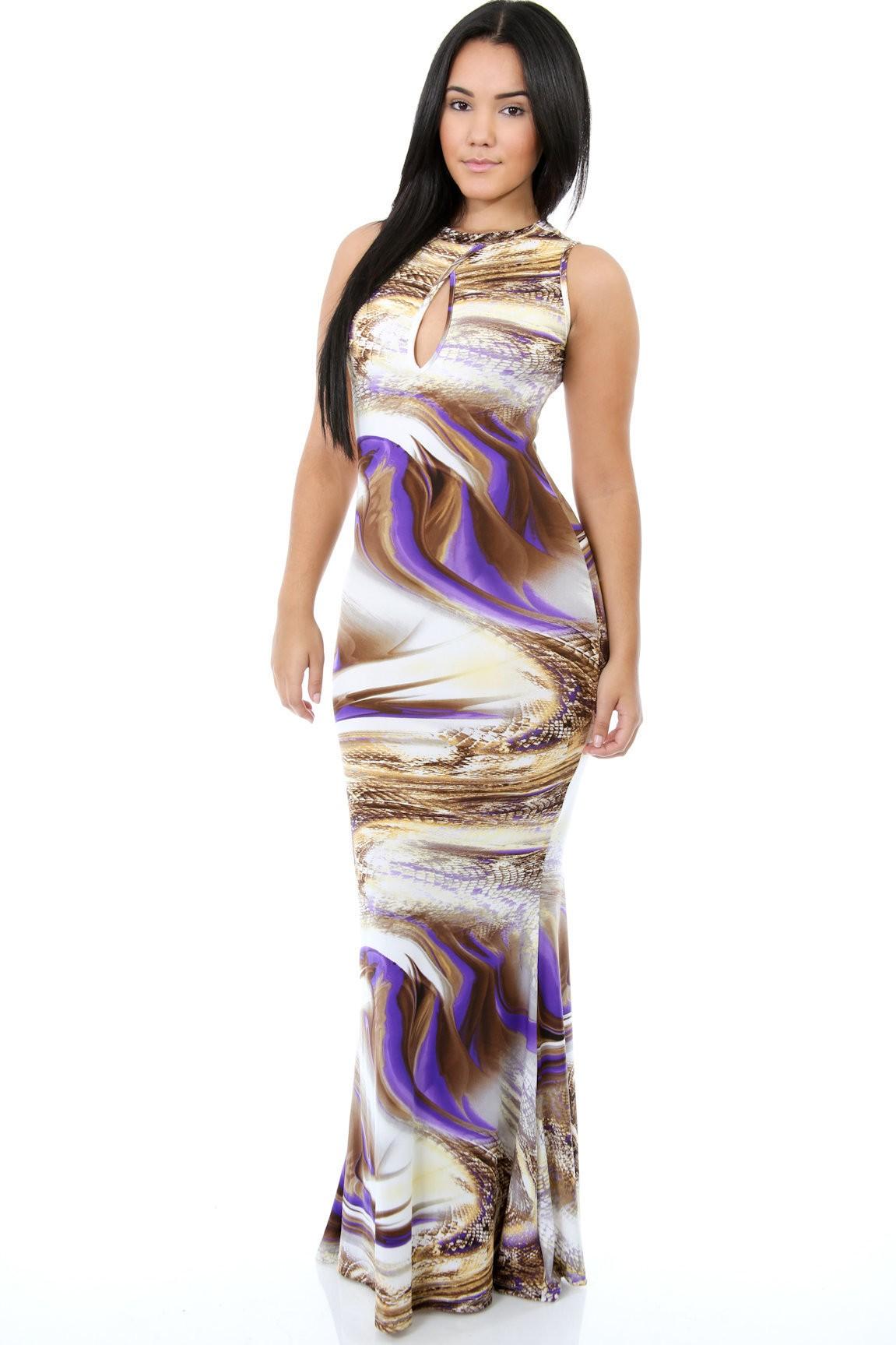 Mermaid Snake Maxi Dress