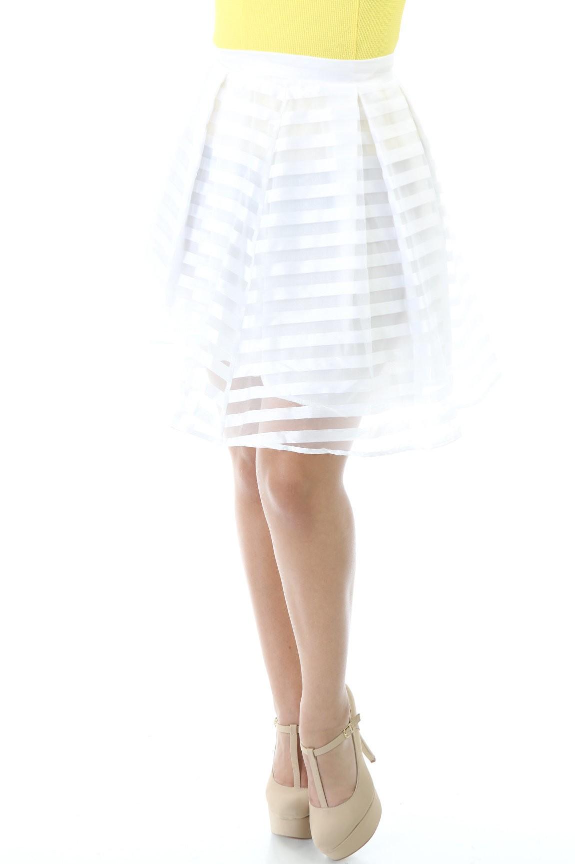Striped Streamer Skirt